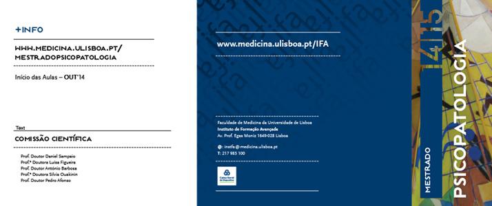 Faculdade Medicina Universidade de Lisboa|Mestrado Psicopatologia
