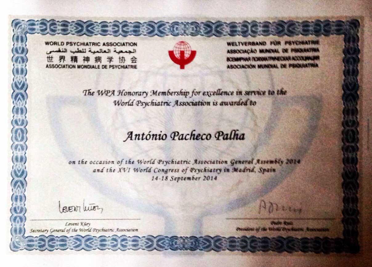 Membro Honorário da Associação Mundial de Psiquiatria
