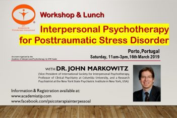 John Markowitz (Uni Columbia, USA) no Porto - Workshop & Lunch - Academia de Psicoterapia Interpessoal by EME
